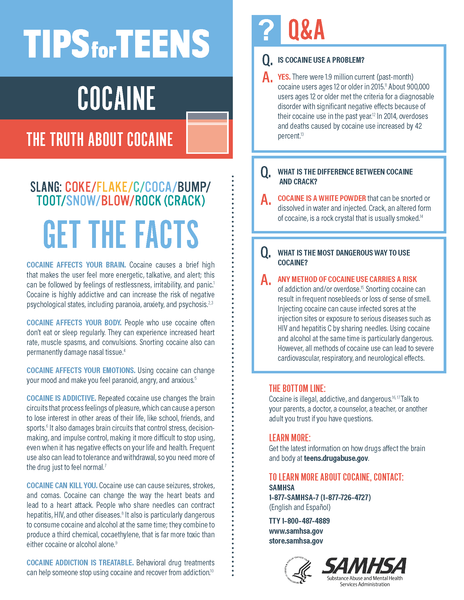Tips for Teens: Cocaine