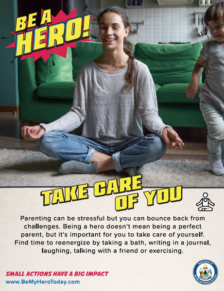 Be A Hero Poster: Take Care