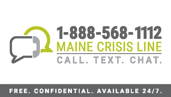 Maine Crisis Line Sticker