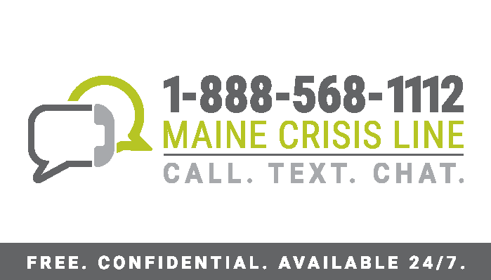 Maine Crisis Line Business Card