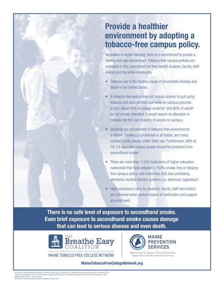 Secondhand Smoke College Fact Sheet - Digital Only