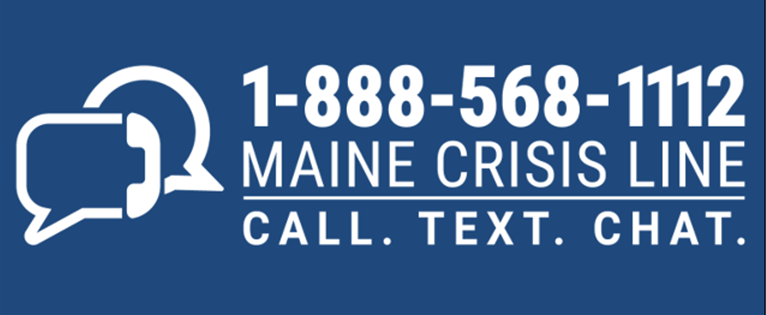 Maine Crisis Line Logo (White) - Digital Only