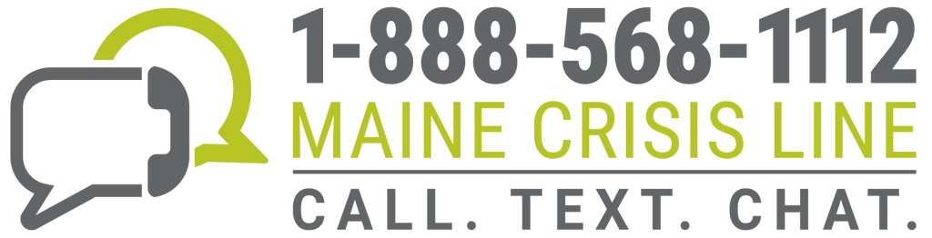 Maine Crisis Line Logo (Two-color) - Digital Only