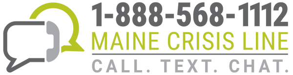 Maine Crisis Line Logo (Color) - Digital Only