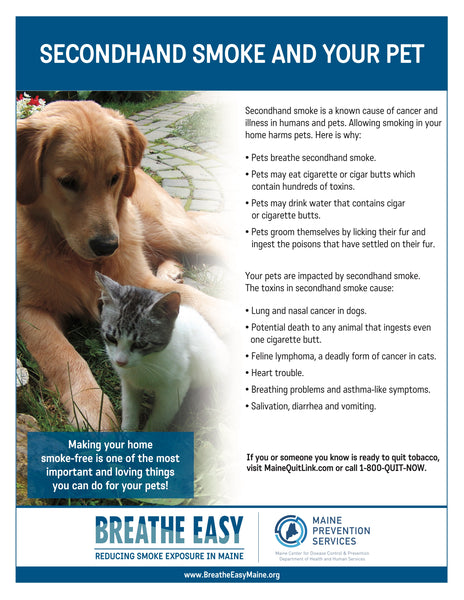 Pet Secondhand Smoke Fact Sheet - Digital Only