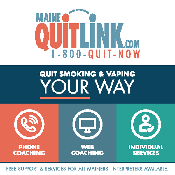 Maine QuitLink Magnet