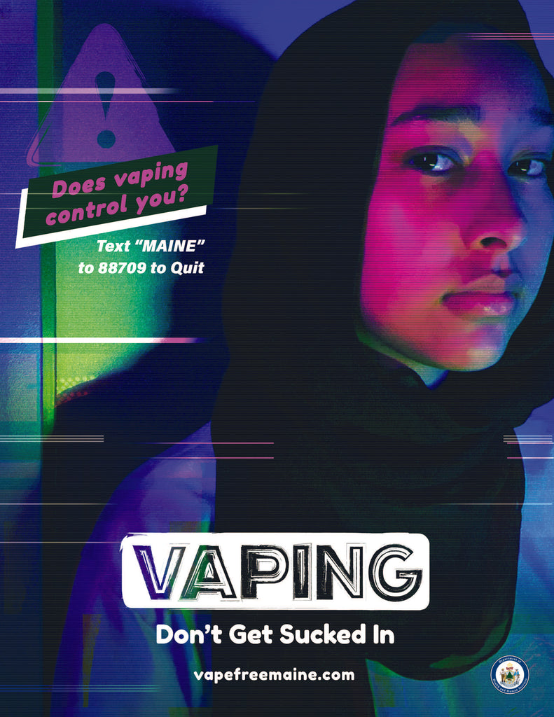 Vaping: Don't Get Sucked In - Poster (control)