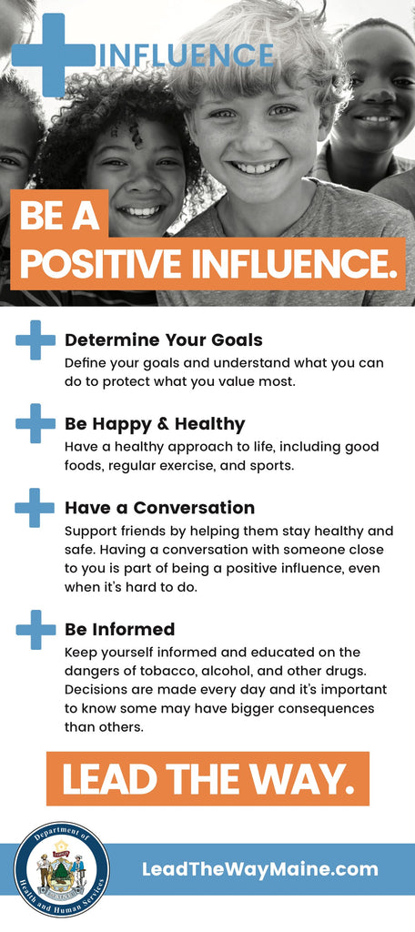 +Influence Rack Card - Be a Positive Influence