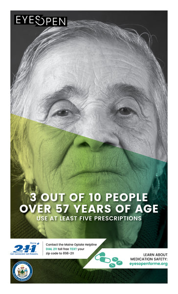EYES OPEN Poster – Using Safely - Older Female