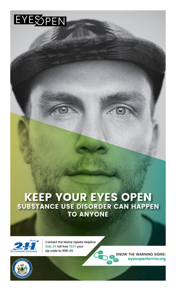 EYES OPEN Poster – Warning Signs - Adult Male
