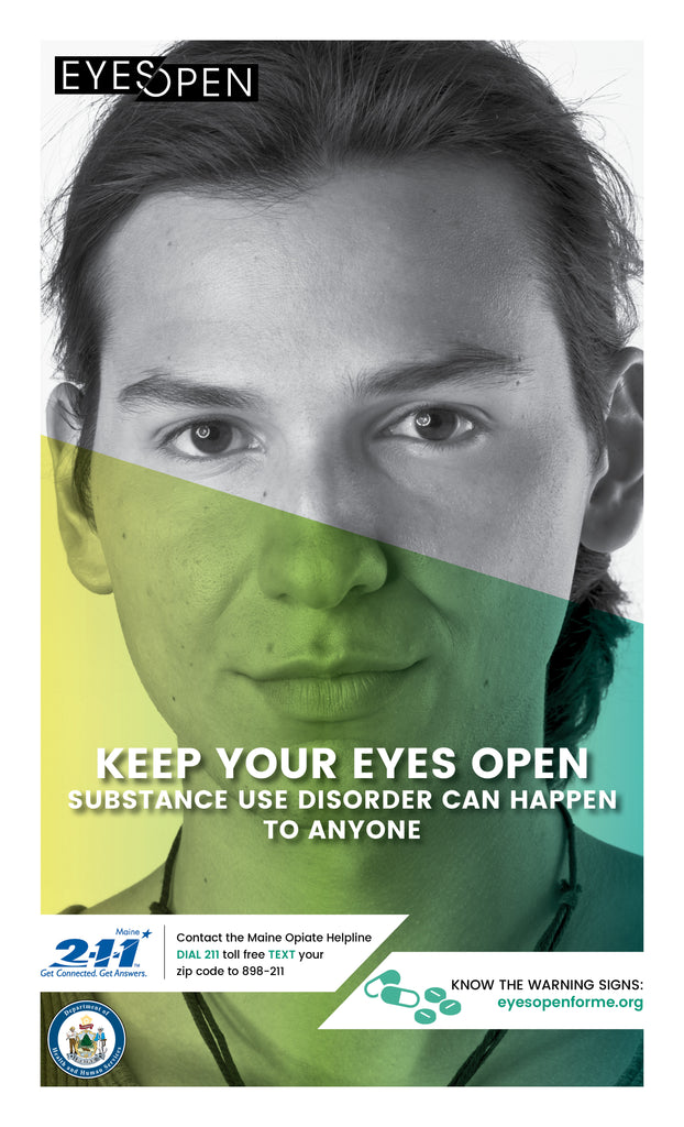 EYES OPEN Poster – Warning Signs - Youth Male
