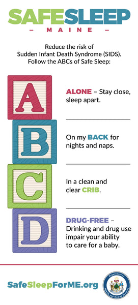 Safe Sleep Rack Card