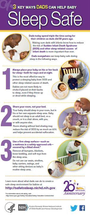 3 Key Ways Dads Can Help Baby Sleep Safe