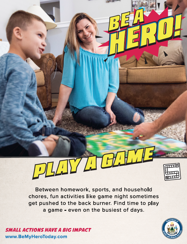 Be A Hero Poster: Play A Game
