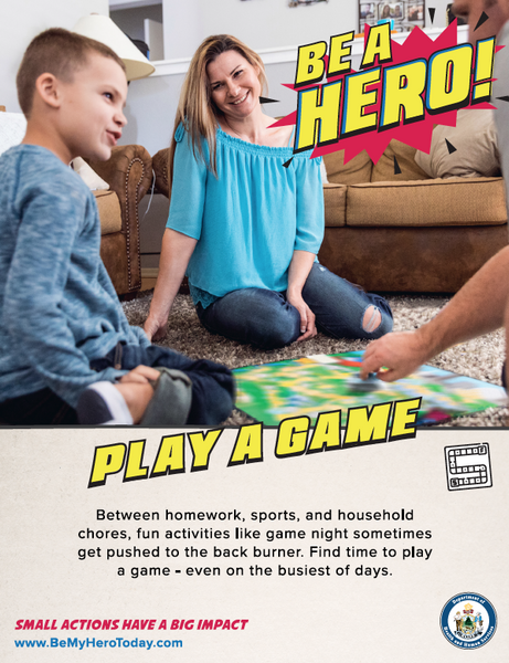 Be A Hero Poster: Play A Game - Digital Only
