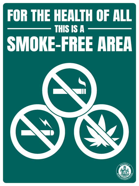 Smoke-Free Area (Multiple Substances) Sign