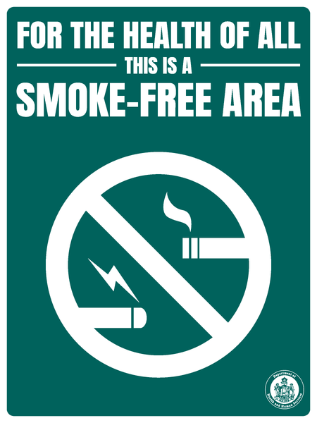 Smoke-Free Area Sign