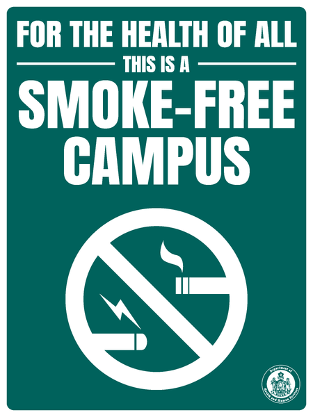 Smoke-Free Campus Sign
