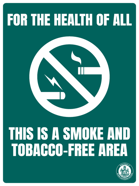 Smoke and Tobacco-Free Area Sign