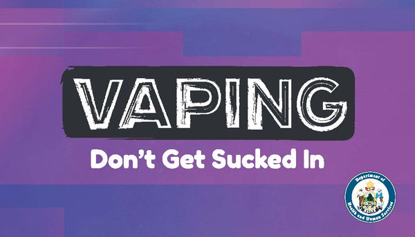 Vaping: Don't Get Sucked In - Business Card