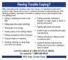 Having Trouble Coping?