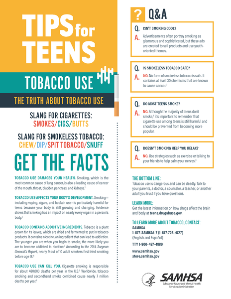 Tips for Teens: Tobacco Use