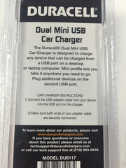 Duracell Dual 3.1 AMP Mini USB Car Charger (DU6117)
