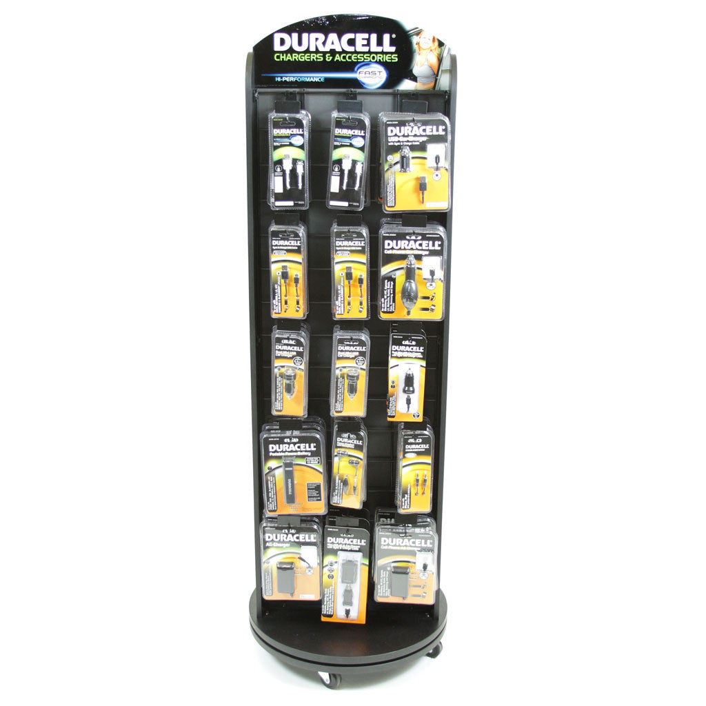 Duracell 2-sided Spinner Floor Display (60 or 90 count)