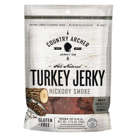 Turkey Jerky Hickory Smoke Flavor  (3 oz size) 12 count min./order