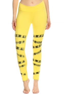 HIGH WAISTED BALLERINA LEGGINGS | YELLOW - LA Society