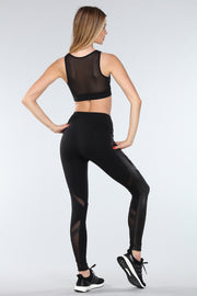 TORREY V-MESH TOP | BLACK