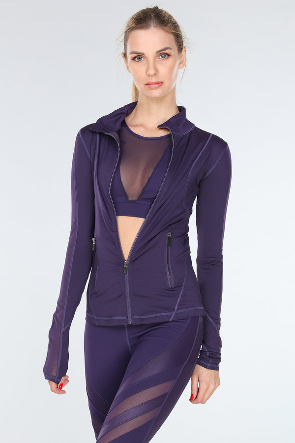 VIBRATION MESH JACKET | PURPLE