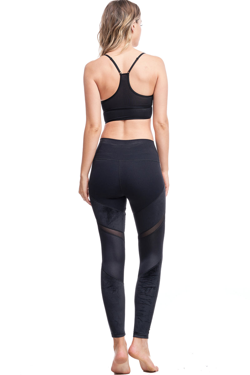 LUX VELOUR LEGGINGS | BLACK - LA Society