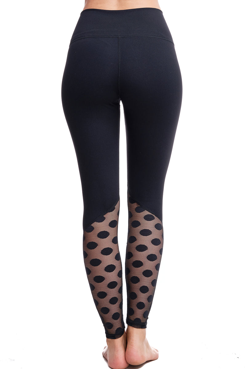 DIPPED IN DOTS HIGH-WAISTED LEGGINGS - LA Society