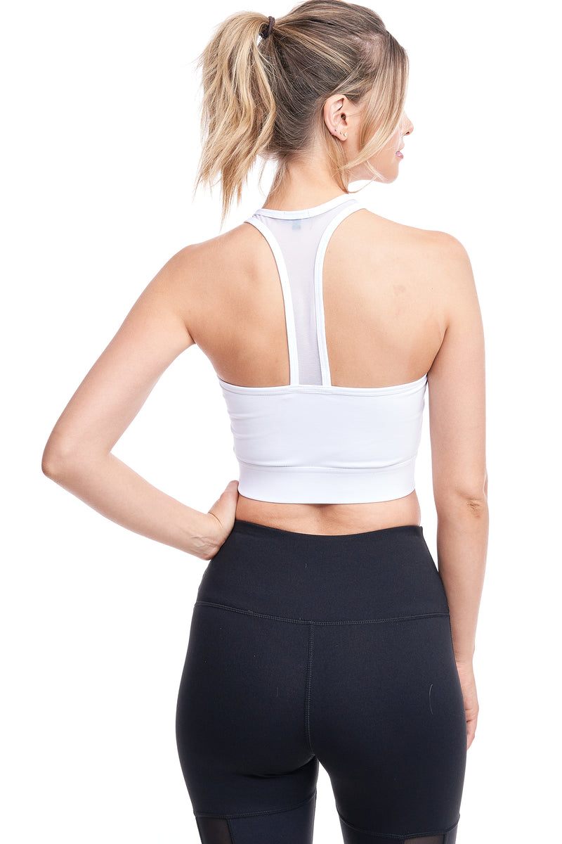 LONGEVITY SPORTS BRA | WHITE - LA Society