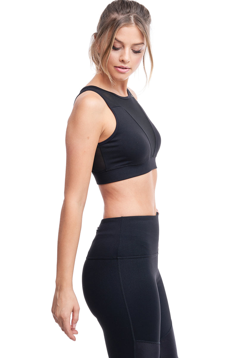 TORREY V-MESH TOP | BLACK - LA Society