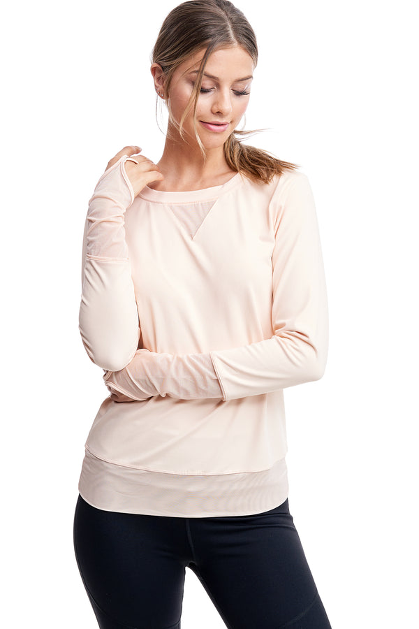 ALL ANGLES MESH PULL OVER | NUDE