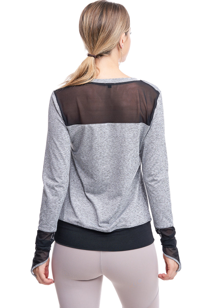 ALL ANGLES MESH PULL OVER | HEATHER - LA Society