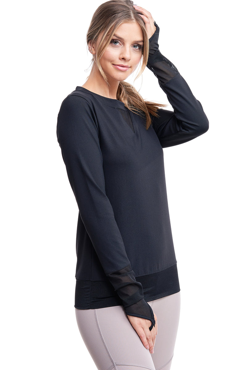 ALL ANGLES MESH PULL OVER | BLACK - LA Society