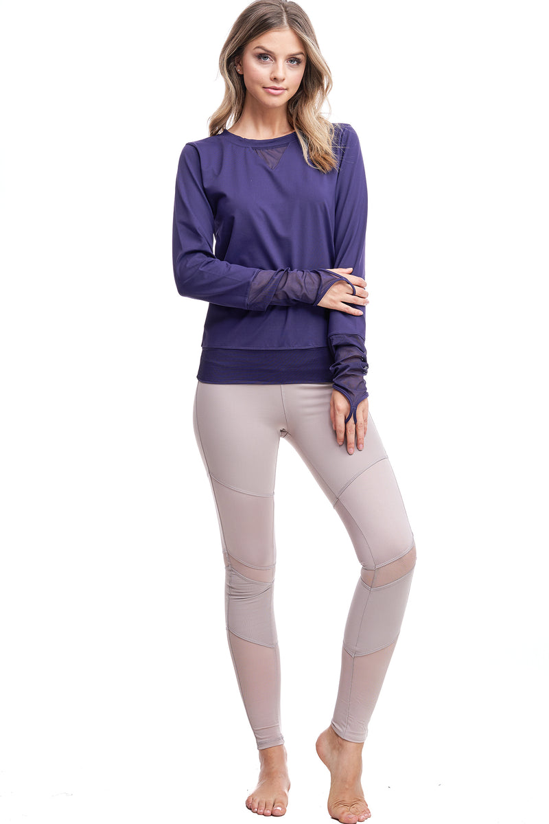 ALL ANGLES MESH PULL OVER | PURPLE - LA Society