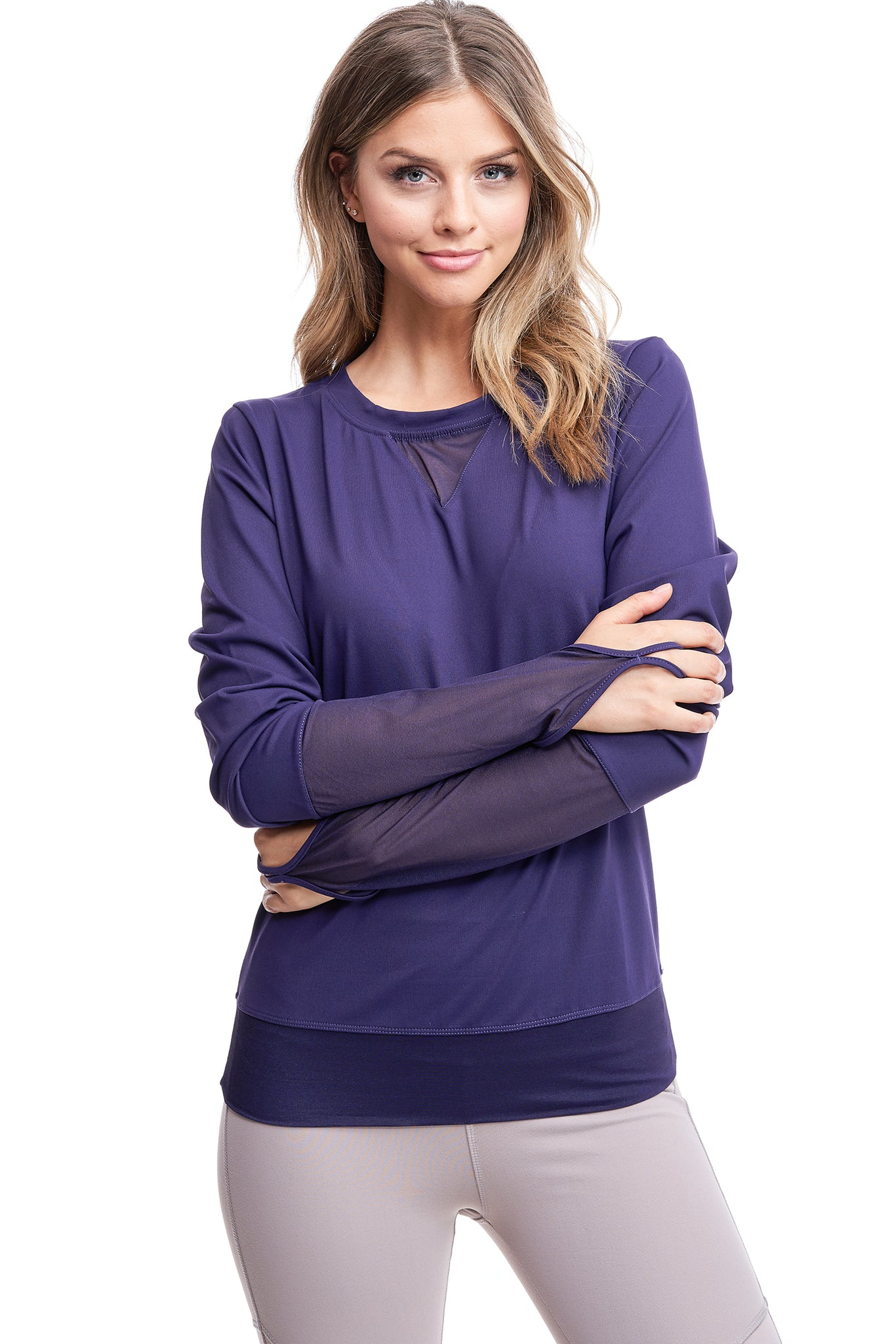 ALL ANGLES MESH PULL OVER | PURPLE