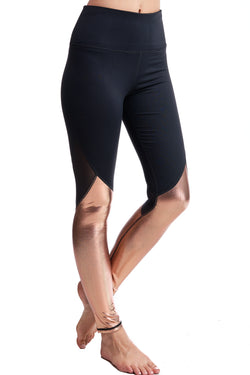 HIGH WAISTED GOLD WRAP LEGGINGS - LA Society