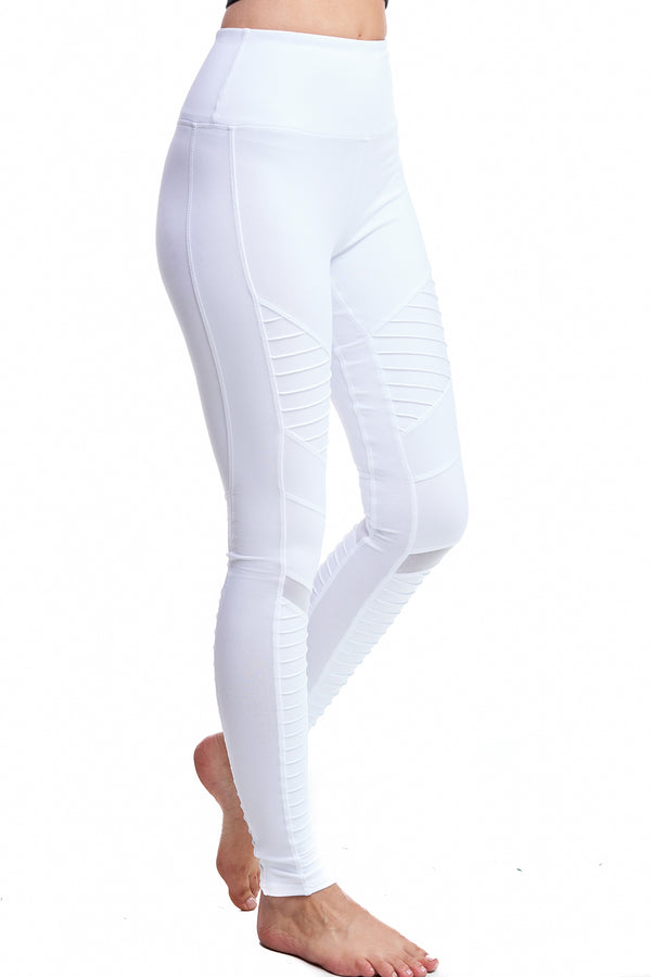 MALIBU MOTO LEGGINGS | WHITE