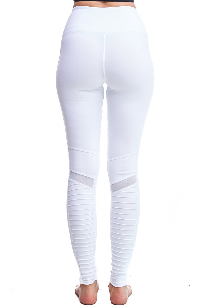 MALIBU MOTO LEGGINGS | WHITE - LA Society