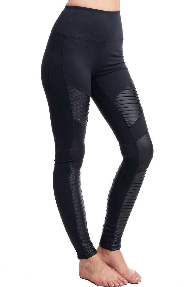 MALIBU MOTO LEGGINGS | BLACK