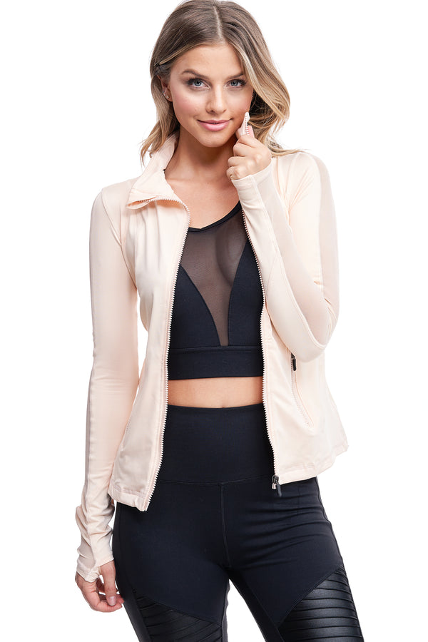 VIBRATION MESH JACKET | NUDE