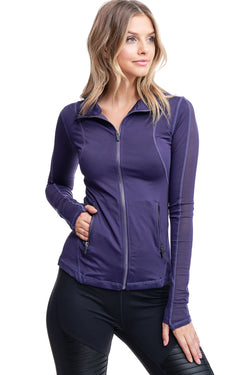 VIBRATION MESH JACKET | PURPLE - LA Society