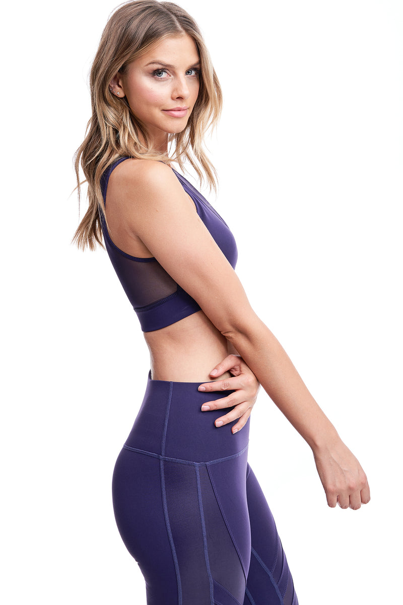 TORREY V-MESH TOP | PURPLE