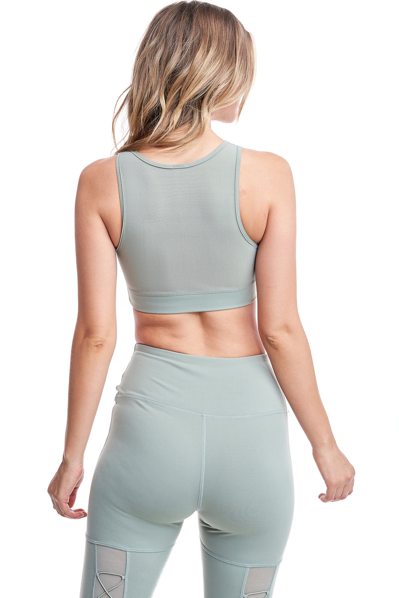 TORREY V-MESH TOP | FROST GREEN - LA Society