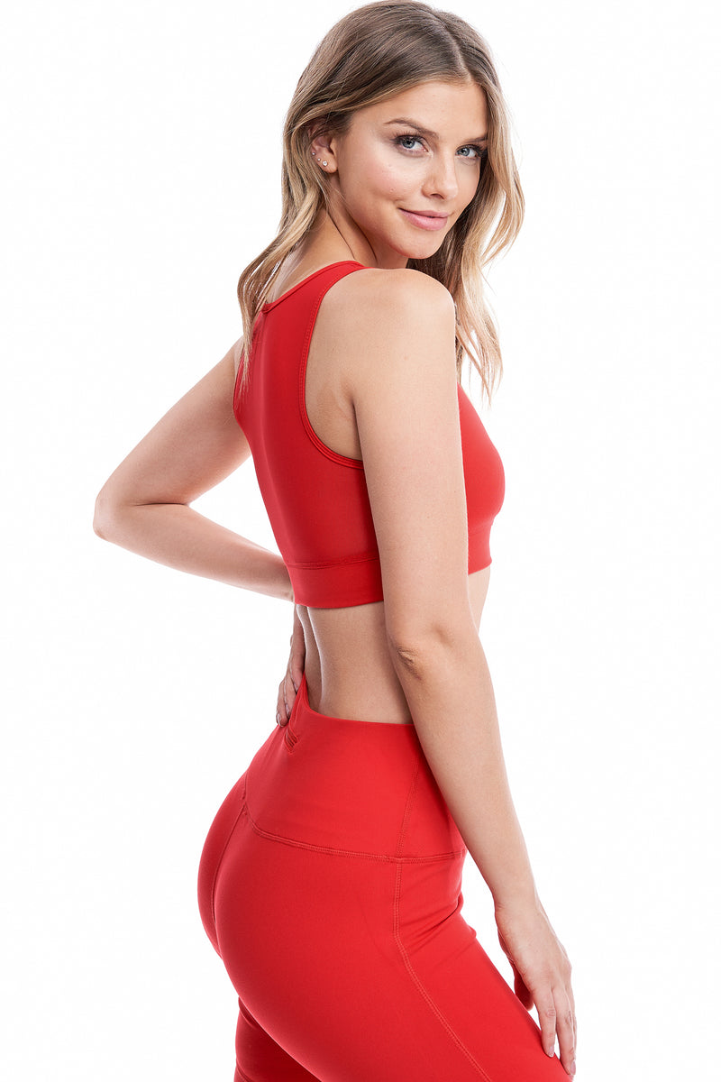 TORREY V-MESH TOP | RED